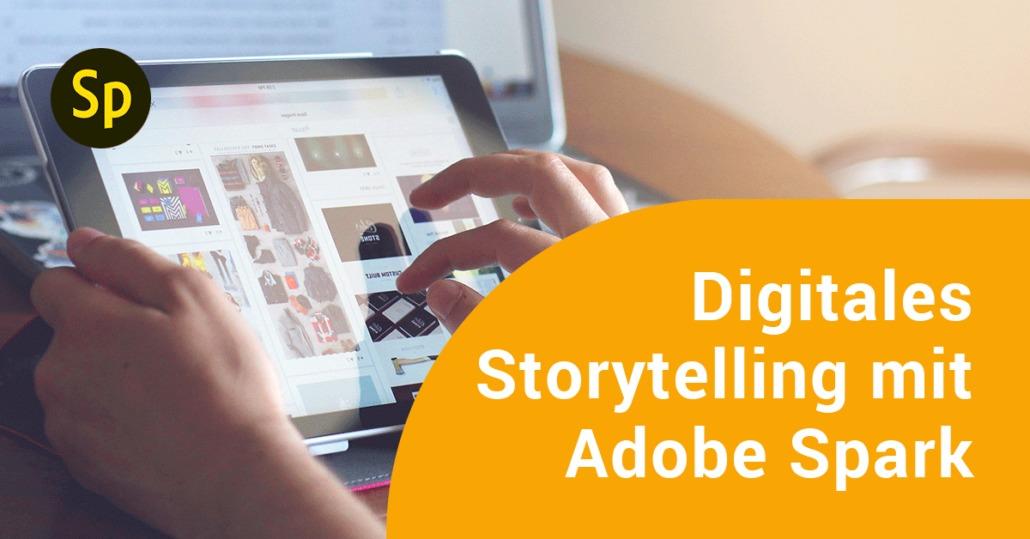 Tablet mit Adobe Spark Programm