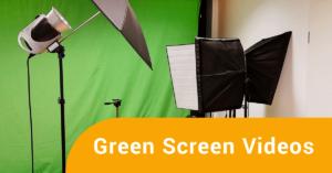 Green Screen, Kamera auf Stativ, Studiolicht