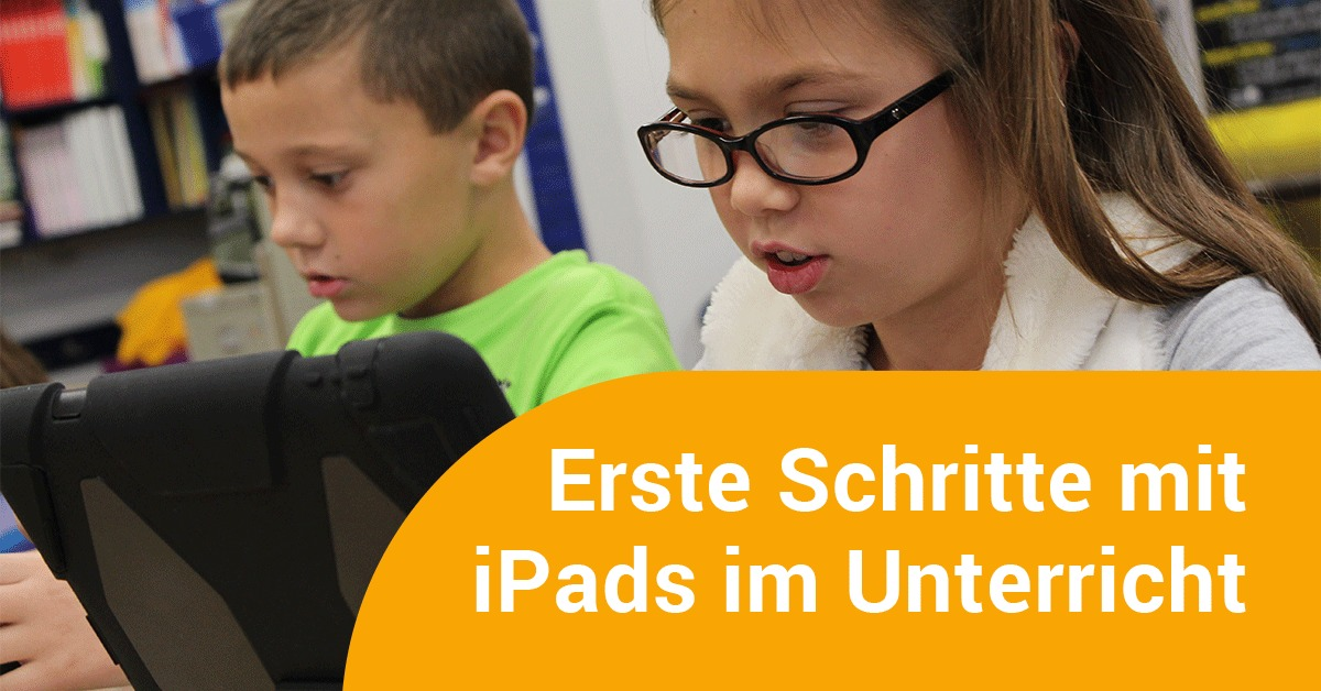 Kinder lernen mit iPads in der Schule