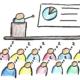Fortbildungsmangel: Karikatur, schlafende Lehrer bei einer Fortbildung