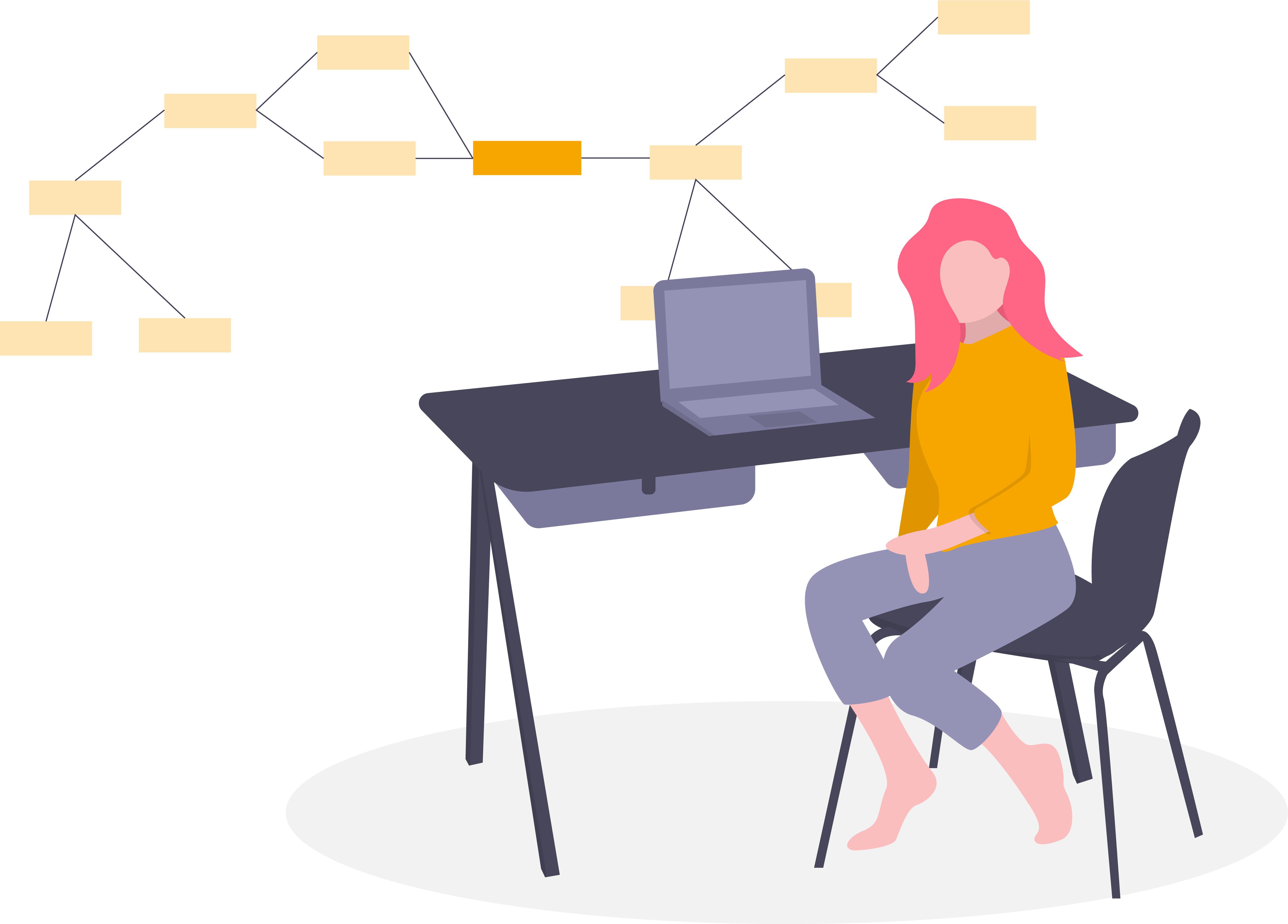 eLearning Frau an Computer