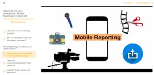 Screenshot aus der Präsentation. Mobile Reporting - Videodreh mit dem Smartphone