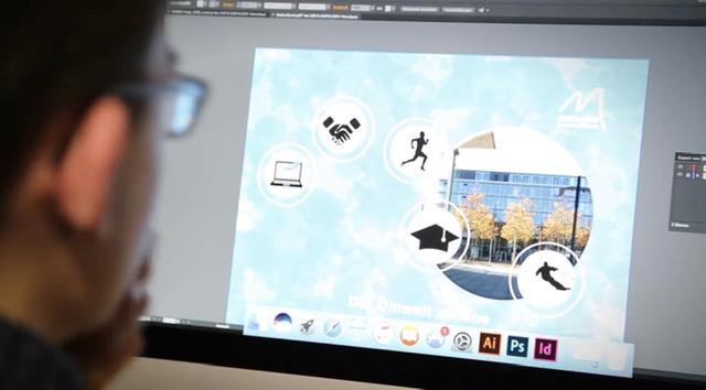 Digitales Spielzimmer: Bild eines Bildschirms aus dem Digitalen Spielzimmer. Es ist ein Bildbearbeitungsprogramme zu sehen
