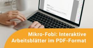 Person tippt am Laptop an einem PDF