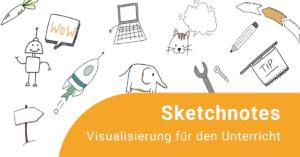 Illustrationen zur Fortbildung: Elefant, Katze, Schild, Roboter, Möhre, Computer, Stift ...