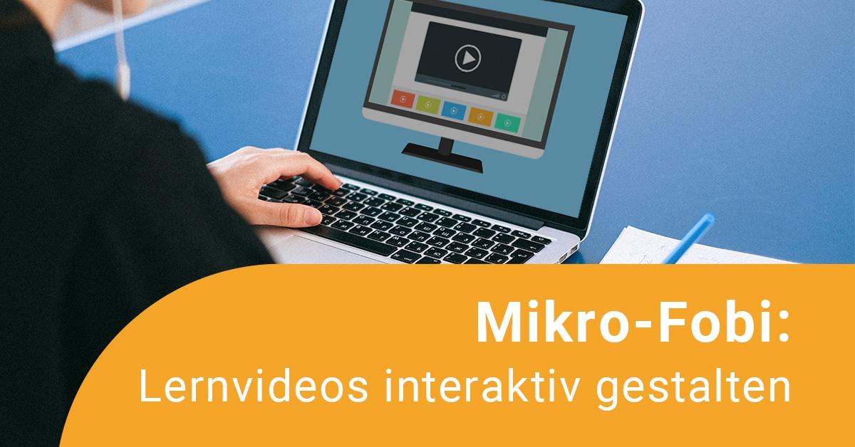 Laptop mit interaktivem Lernvideo zu sehen