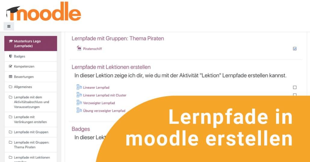Teaserbild zur Online-Fortbildung Lernpfade in moodle