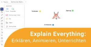 Explain Everything Screenshot aus dem Tool