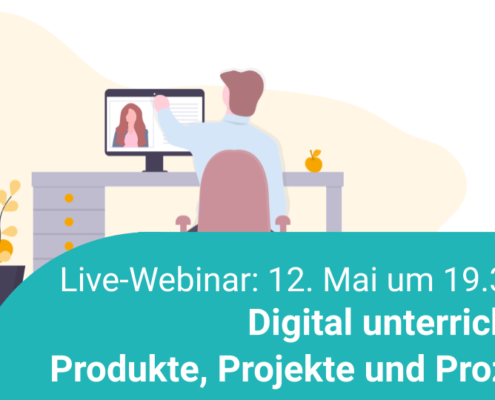 Live-Webinar zum Thema digital unterrichten, Illustration
