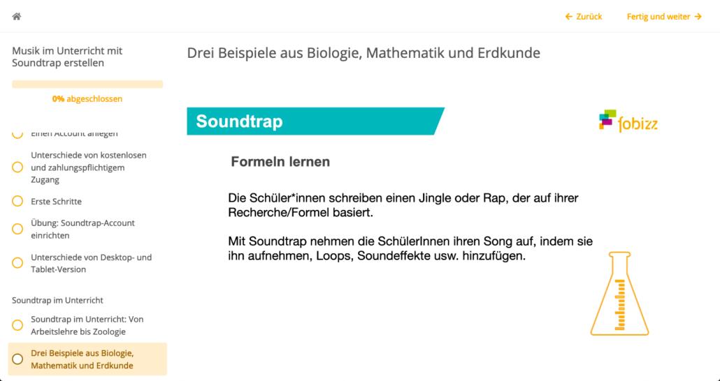 Ausschnitt aus der Soundtrap-Fortbildung