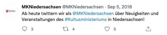 Twitterpost Niedersachsen